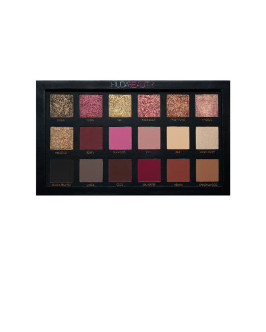 Huda Beauty Rose Gold textured eyeshadow palette2
