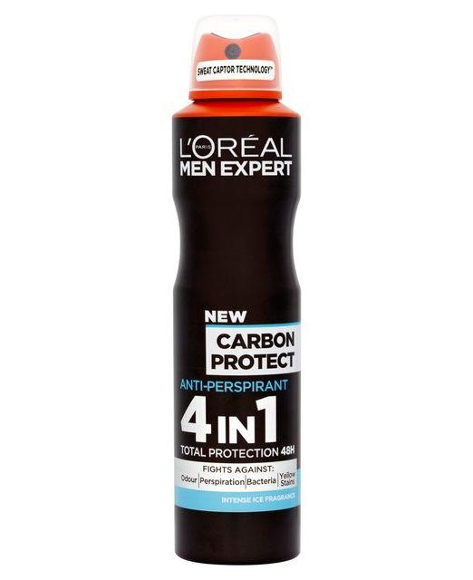 L'Oreal Men Expert Carbon Protect 4 in 1 Anti-Perspirant Deodorant spray