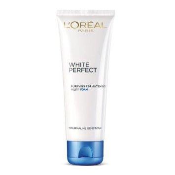 L'Oreal Paris White Perfect Purifying & Brightening Milky Foam, Tourmaline Gemstone