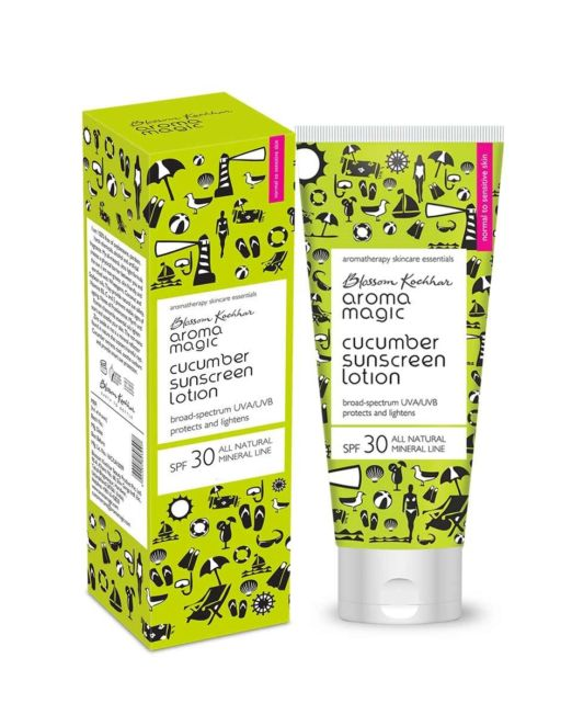 Aroma Magic Cucumber Sunscreen Lotion SPF 30 UVAUVB All Natural Mineral Line