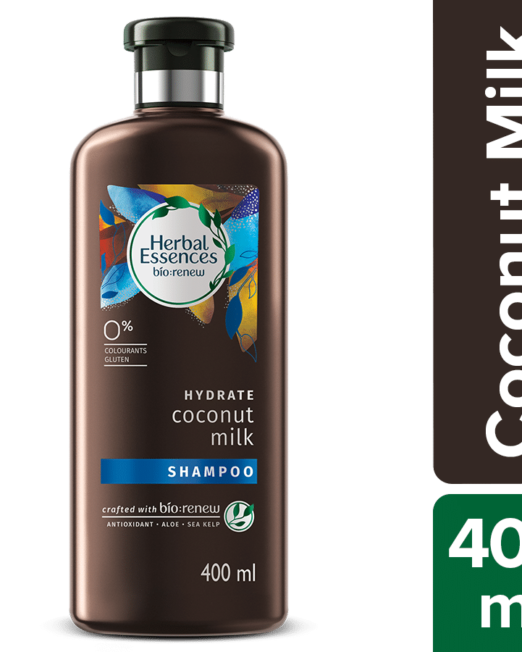 Coconut Milk Shampoo hydrates hair to leave them manageable and less prone to damage and split ends