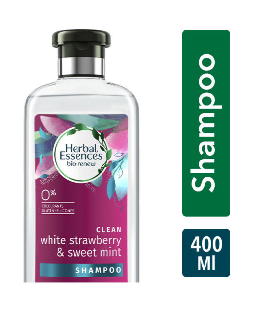 Herbal Essences White Strawberry And Sweet Mint Shampoo For Volume - No Parabens- No Colourants 400ml