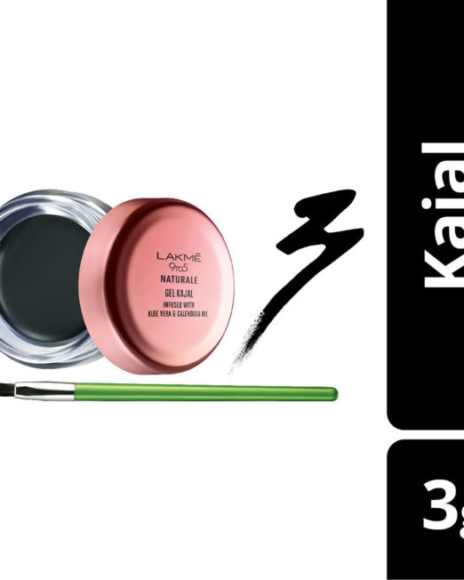 Lakme 9 to 5 Naturale Gel Kajal - Black 3g