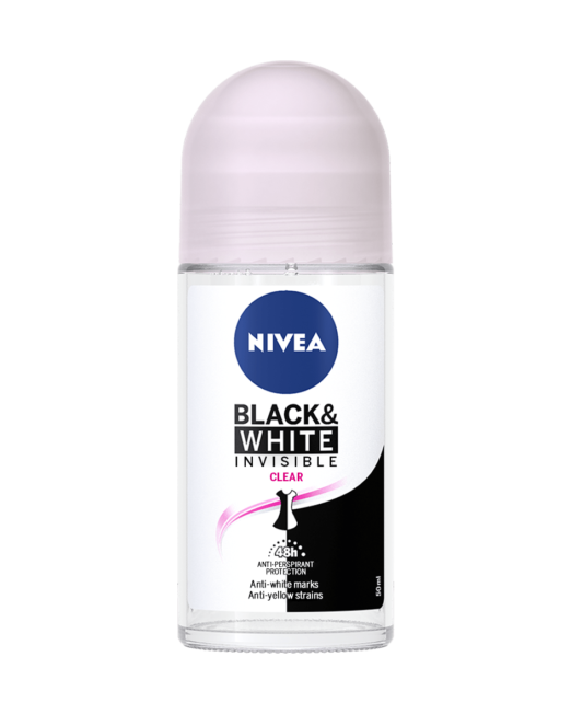 NIVEA Invisible Black And White Clear Roll On 150ml