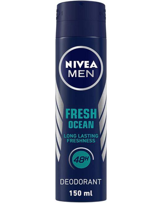 NIVEA Men Deodorant, Fresh Ocean 150ml