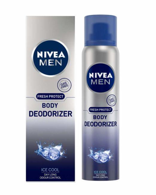 NIVEA Men Fresh Protect Body Deodorizer Ice Cool, 120ml