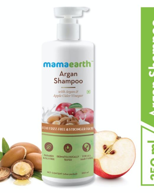 Mamaearth Argan & Apple Cider Vinegar Shampoo For Frizz Free & Strong Hair 250ml
