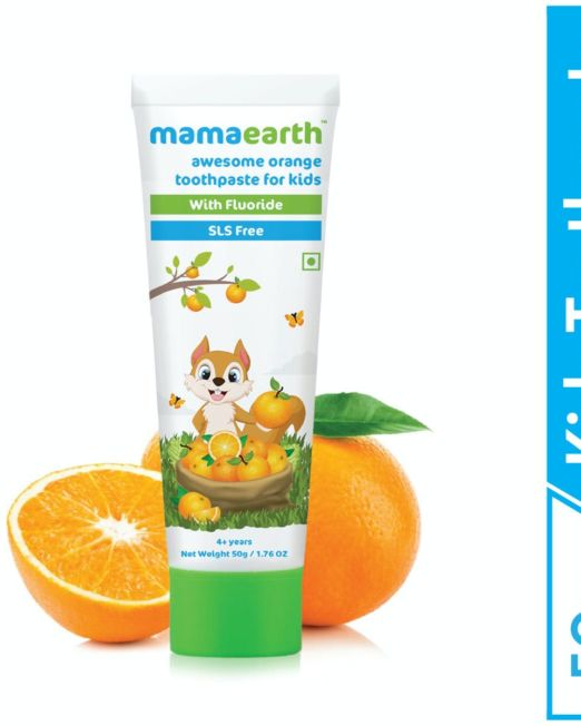 Mamaearth Awesome Orange Toothpaste For Kids 50g