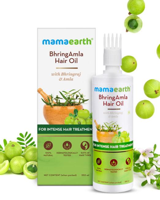 Mamaearth BhringAmla Hair Oil with Bhringraj & Amla for Intense Hair Treatment 250ml