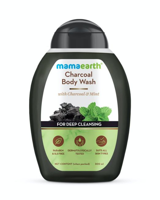 Mamaearth Charcoal Body Wash With Charcoal & Mint For Deep Cleansing 300ml