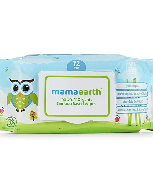 Mamaearth India's First Organic Bamboo Based Baby Wipes -Travel Pack 15 wipes
