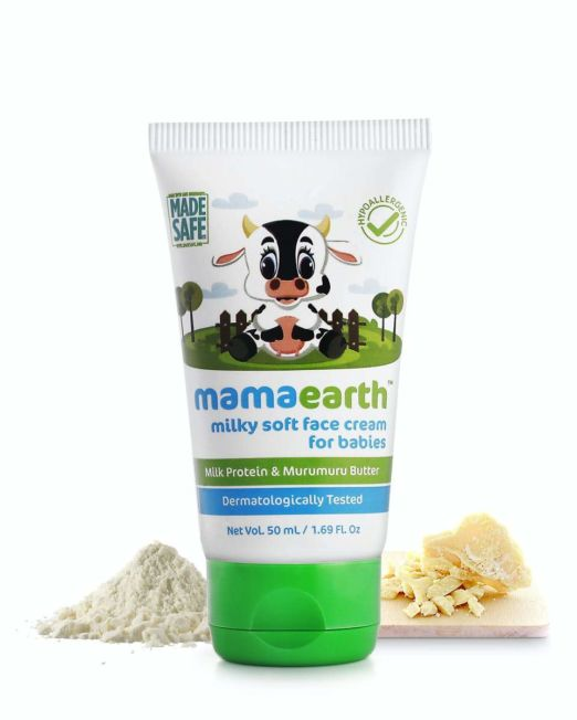 Mamaearth Milky Soft Face Cream for Babies with Milk Protein Murumuru Butter 60g