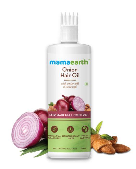 Mamaearth Onion Hair Oil for Hair Regrowth and Hair Fall Control 250ml